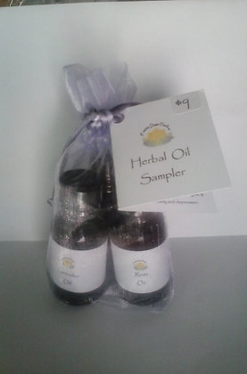 Infused Oil Sample Set in Lavender bag