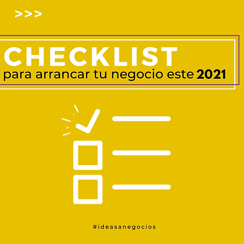Checklist para emprender 2021