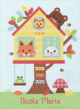 Dimensions Cross Stitch Kit - Tree House Birth Record