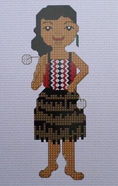 Cross Stitch Kit - Kapa Haka Girl