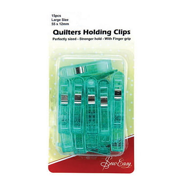 *Sew Easy Quilt Clips 52x12mm 15pcs: Large