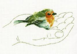 Cross Stitch - Warmth in Palms, Robin