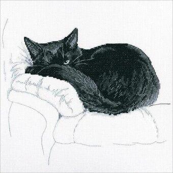 Cross Stitch - Among black Cats