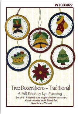 Felt Kitset- Tree Decorations Traditional