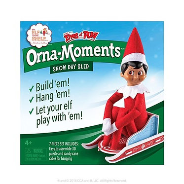 Orna-Moments Snow Day Sled