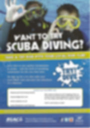 An advert for try dive