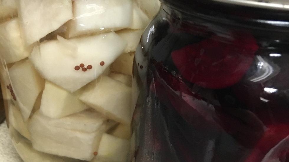 Pickled Kohlrabi