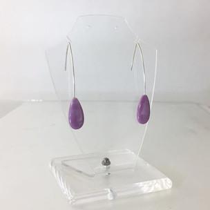 Zilveren oorbellen met pampel van fosfor