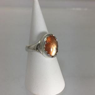 zilveren ring met zonnesteen #bykiko #h