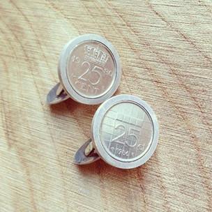 Silver cufflinks for my darling husband