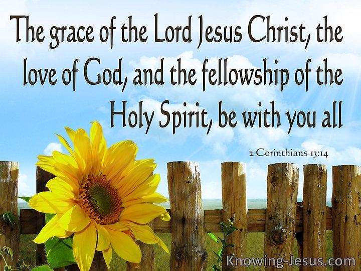 2 Corinthians 13-14 Grace Love And Felll