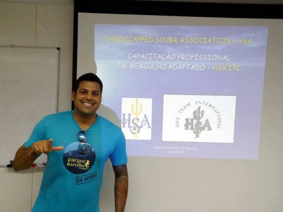 A primeira empresa em Salvador de Mergulho Adaptado Foto 03