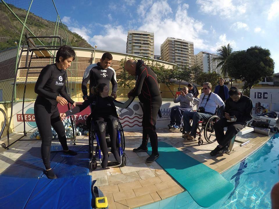 A primeira empresa em Salvador de Mergulho Adaptado Foto 05