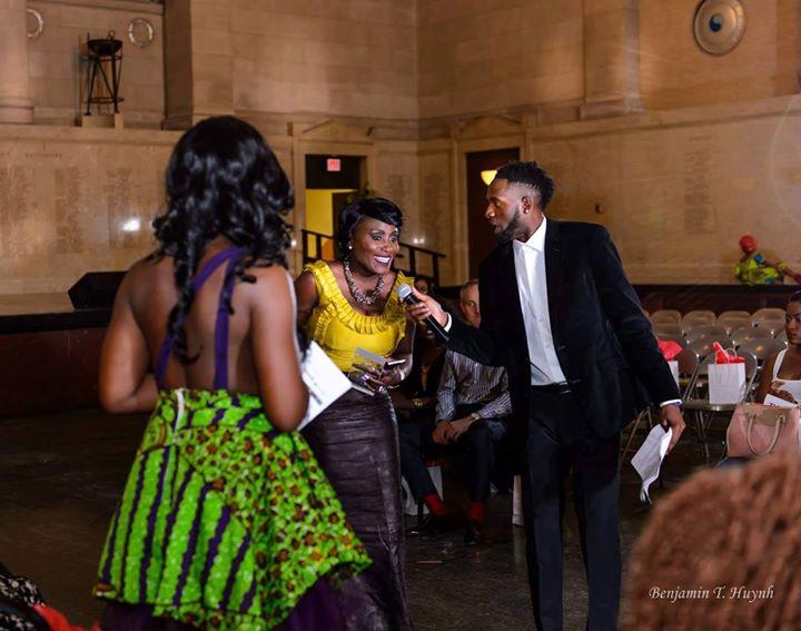 #RunwayLiberia2016 _The beautiful and talented Runway Liberia 2016 Honoree Tarloh B Sayeh gives acce