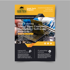 New geektech brochure to be printed 2020