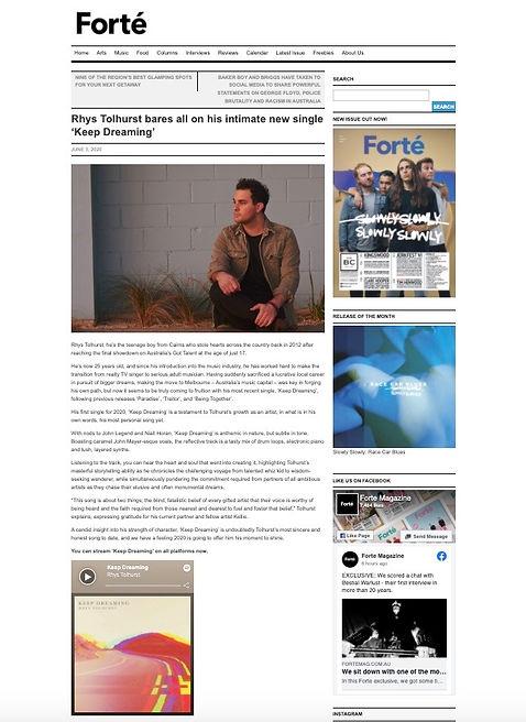 Rhys Tolhurst Forte Magazine
