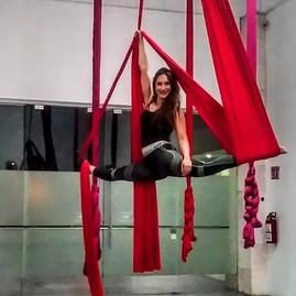 Aerial Silk Performer and Artist, Vanessa Vilchis
