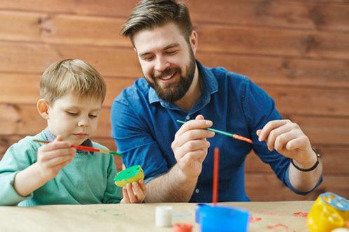 Kreative Vater-Kind Gruppe