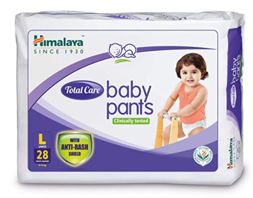 Total Care Baby Pants Diapers, Large, 28 Count