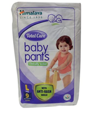 Total Care Baby Pants - Large, 9 Pieces