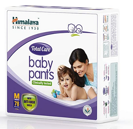 Total Care Baby Pants Diapers, Medium, 78 Count