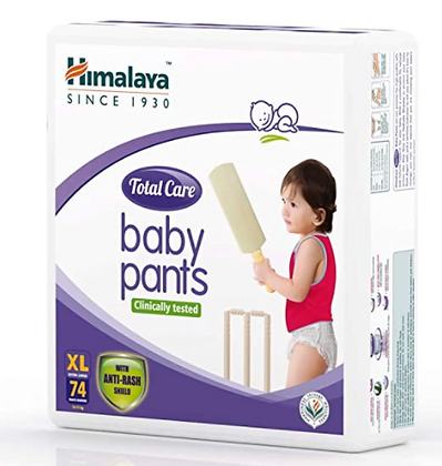 Total Care Baby Pants Diapers, Extra Large, 74 Count