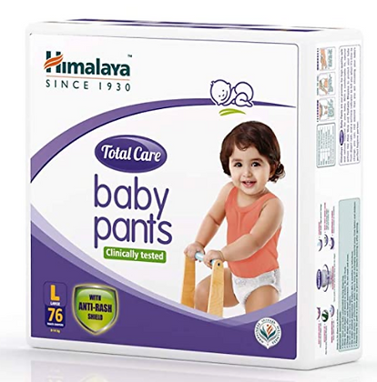 Total Care Baby Pants Diapers, Large, 76 Count