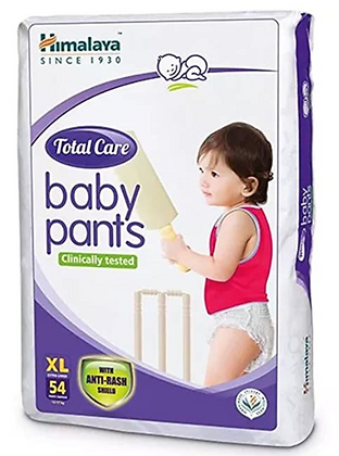Total Care Baby Pants Diapers, X Large, 54 Count