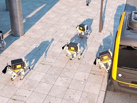 Робособака доставит ваш обед прямо на рабочее место