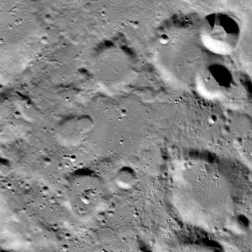 """Область высадки аппарата """"Викрам"""". Снимок получен до крушения. Ширина области 87 км"""
