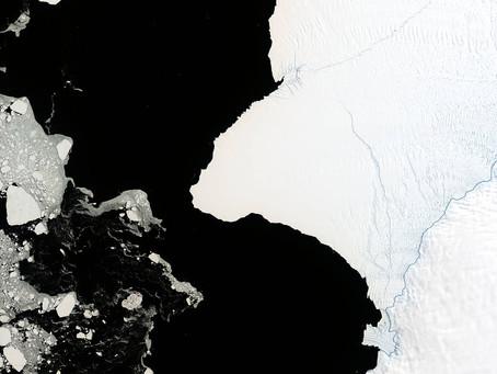 Огромный айсберг скоро отколется от ледника Бранта в Антарктиде