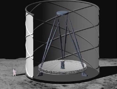 Астрономы хотят построить на Луне гигантский жидкостный зеркальный телескоп