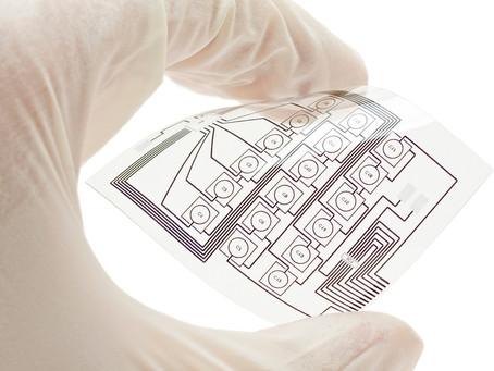 Тонкий прозрачный сенсор касания для гибкой электроники