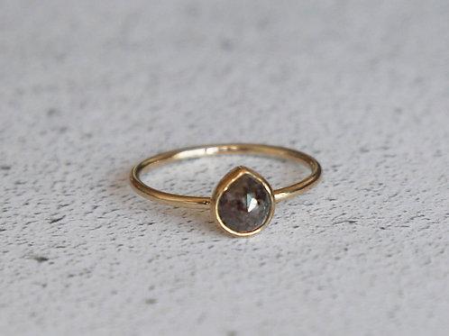 Chocolate pear diamond ring