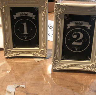 Ornate frames with chalkboard numbers.jp