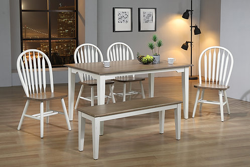 Shaker Farmhouse 6 Piece Dining Table Set