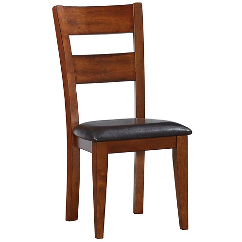 Mango Ladder Back Side Chair with Padded Seat