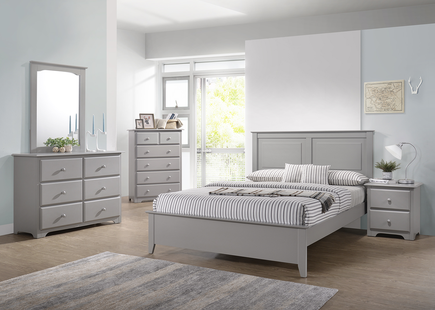 G48 Gray Queen Bed