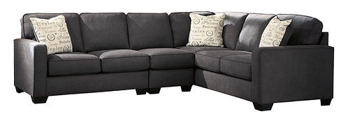 Alenya Sectional Extended with Armless Chair