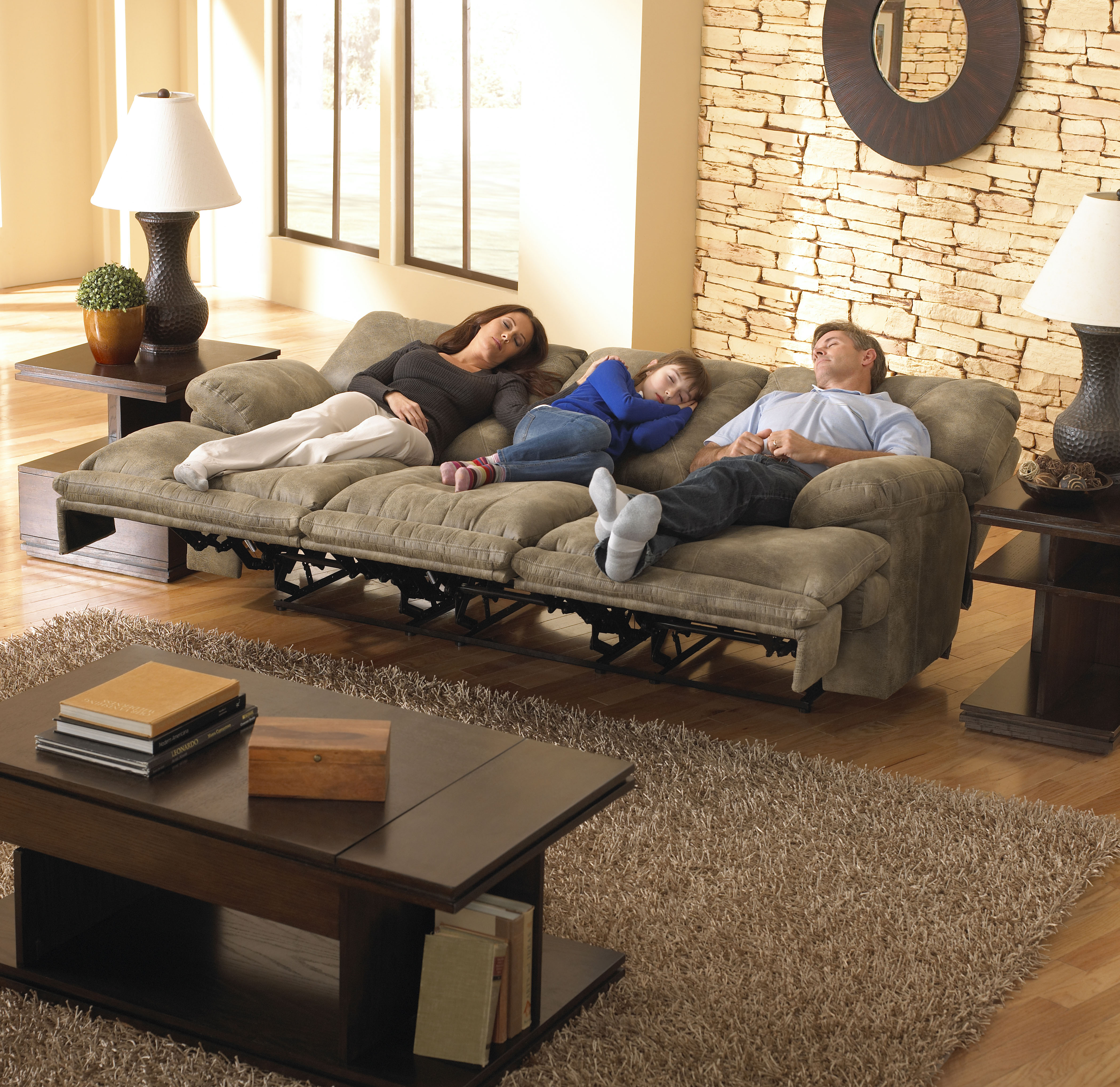 438 Voyager Triple Sofa in Brandy