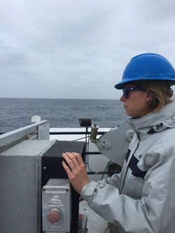 Meredith operating the winch