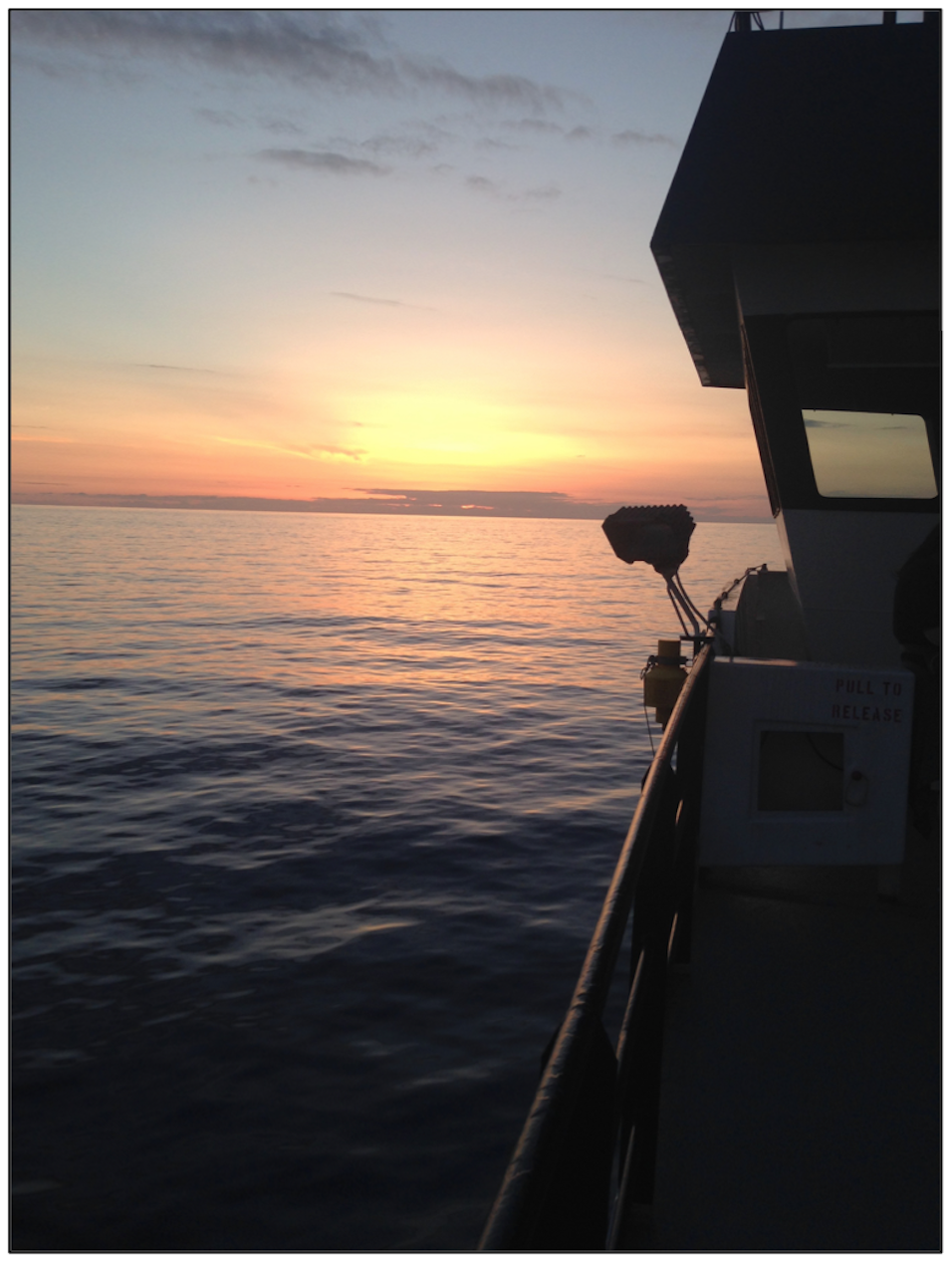Sunset from the R/V Langseth