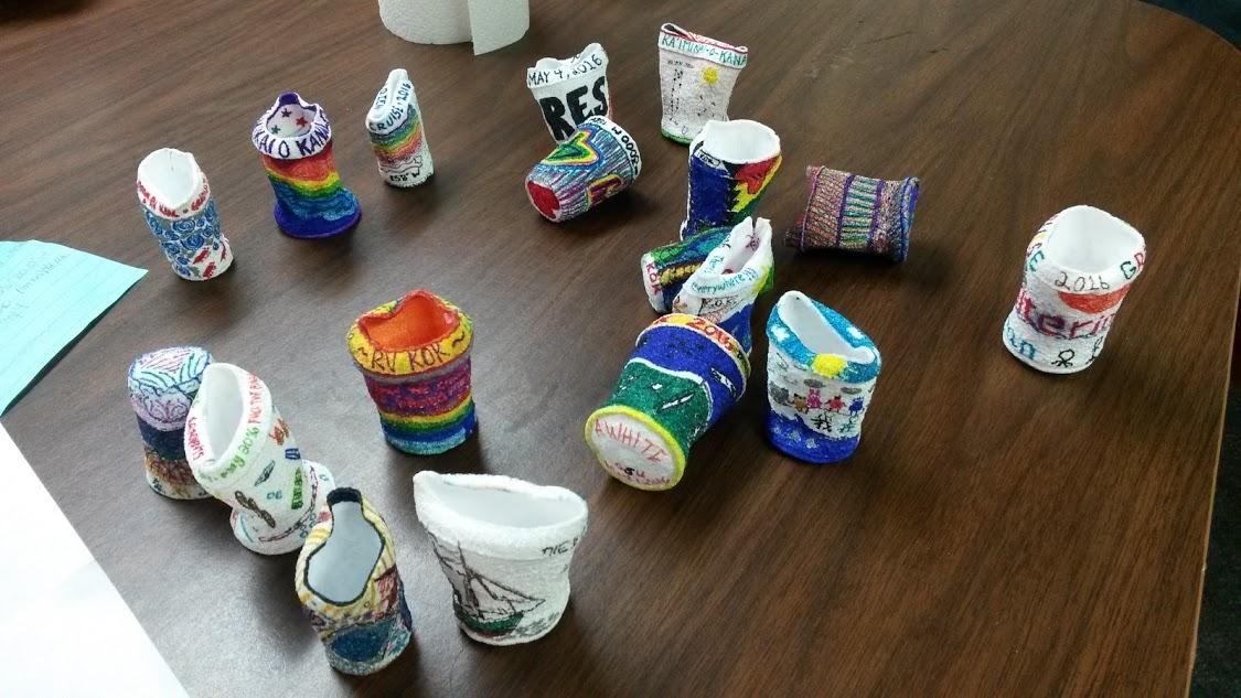 3000 m foam cups