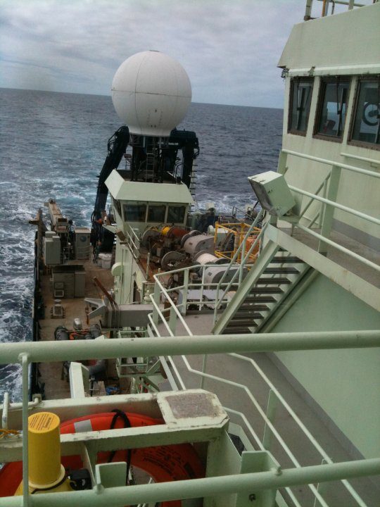 View from the bridge, R/V Atlantis