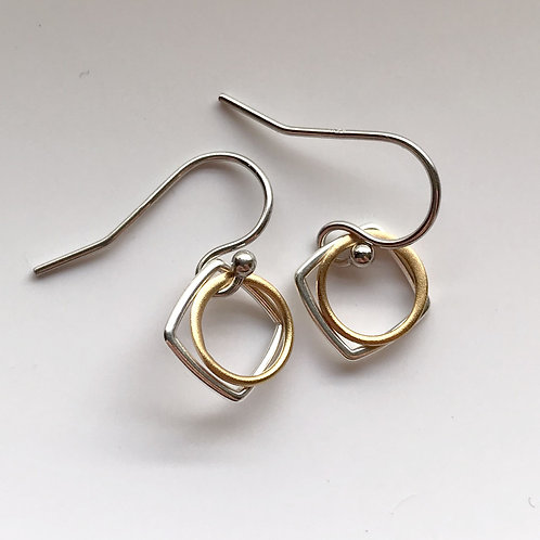 Tiny Silver and Gold Diamonds