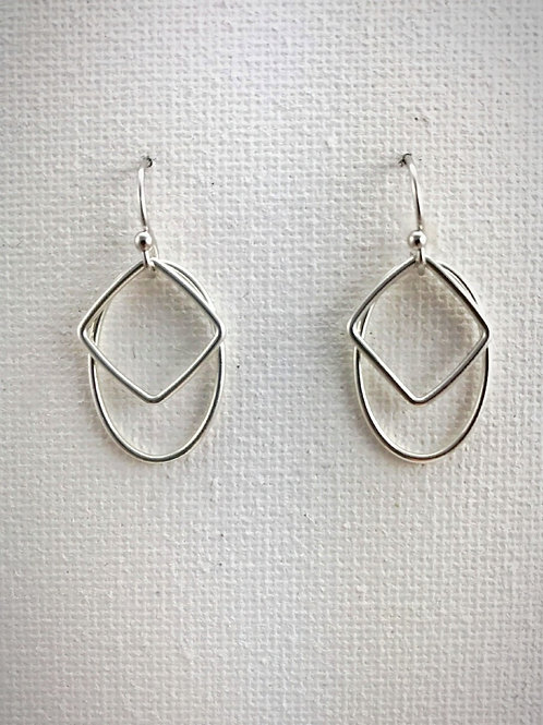 Silver oval and square