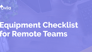 Equipment Checklist for Remote Teams