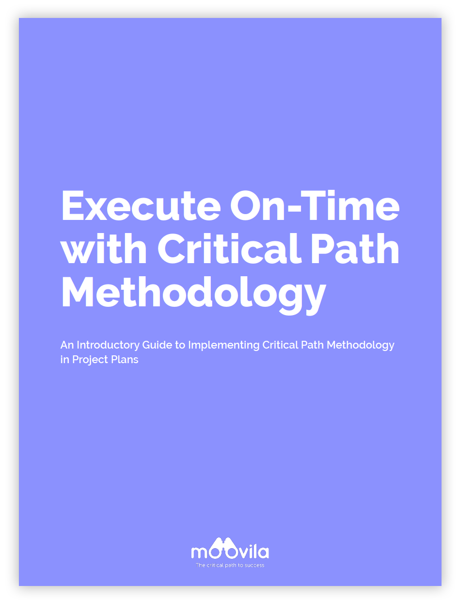 Moovila Execute on-time with critical path methodology