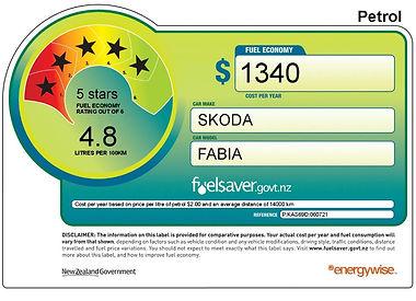 Skoda Fabia Fuel Rating