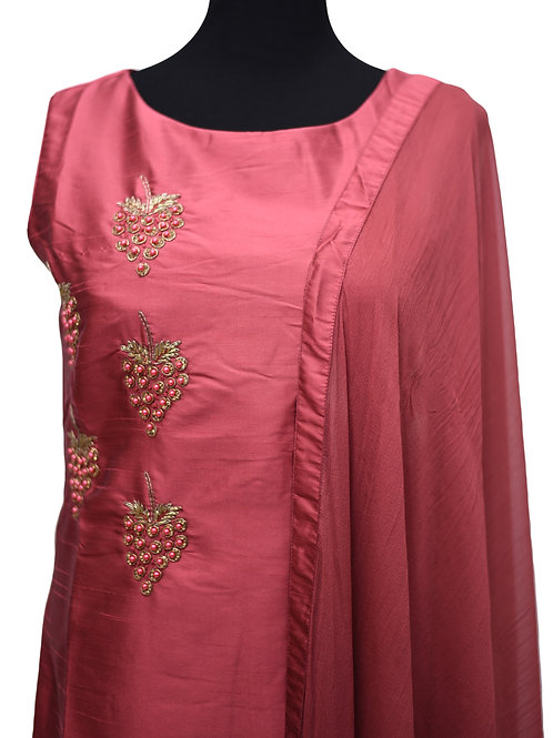 French Rose Pink Churidaar